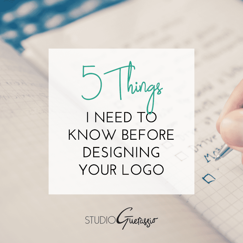 5 Things I Need To Know Before Designing Your Logo