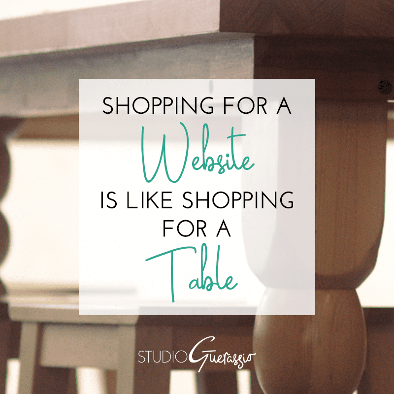 Shopping For a Website is Like Shopping For a Table