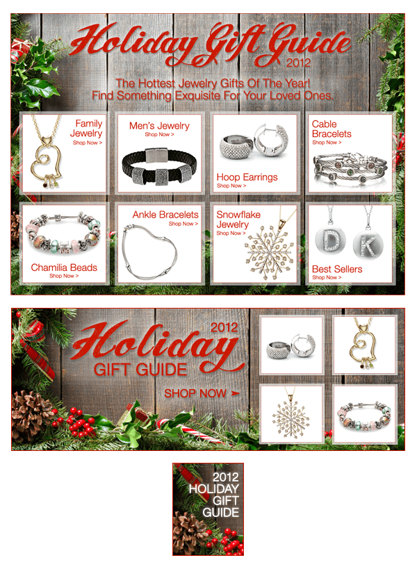 Heavenly Treasures - Holiday Gift Guide email images