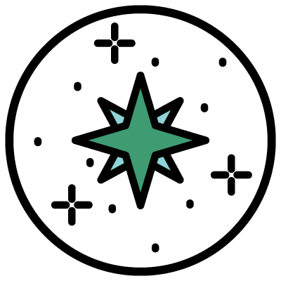 Clarity Package icon - a compass rose